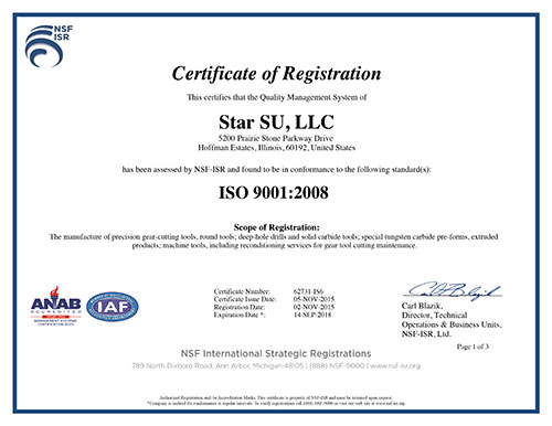 ISO Certification - Star SU
