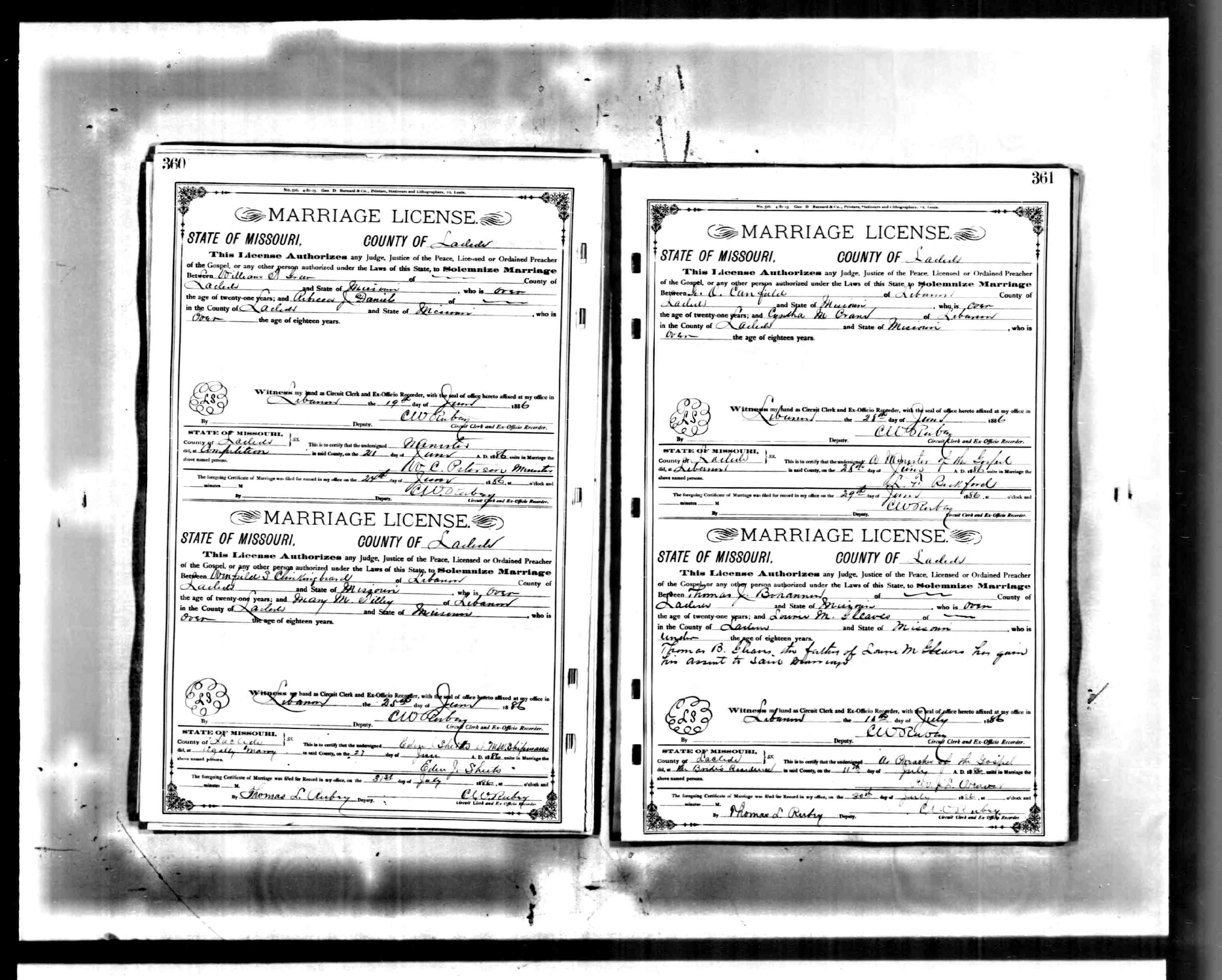 marriage certificates gleaves family