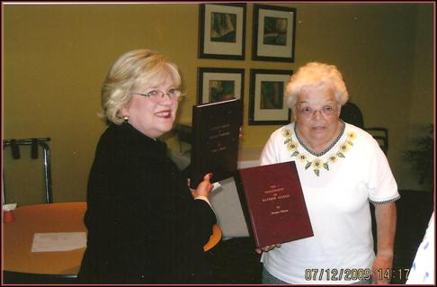 Gleaves Books Presented to West Wilson County Historical Society. July 2009