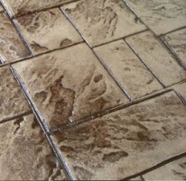 Stamped concrete sealed for protection and beauty