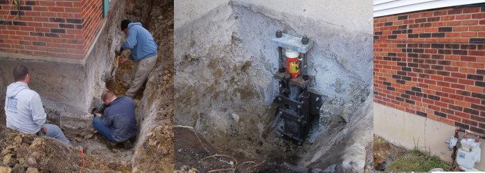 basement crack repair basement waterproofing brick sealing