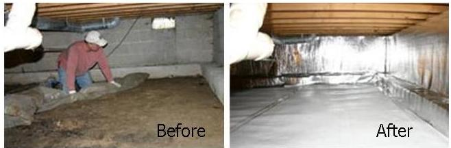 Crawl Space Waterproofing : Crawlspace vapor barrier installer cincinnati and dayton