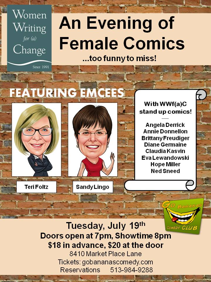 An Evening of Female Comics, Presented by Women Writing for (a) Change
