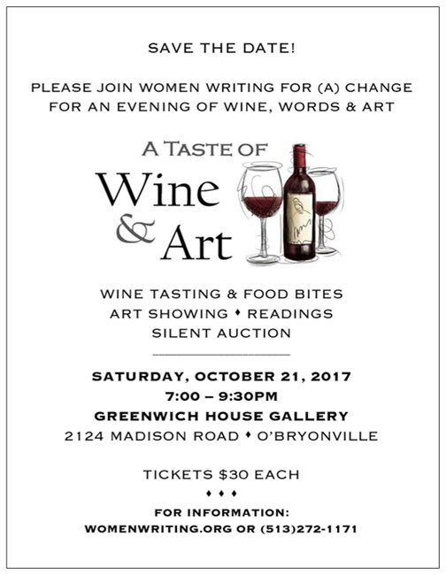 Wine and Art Save the Date Postcard